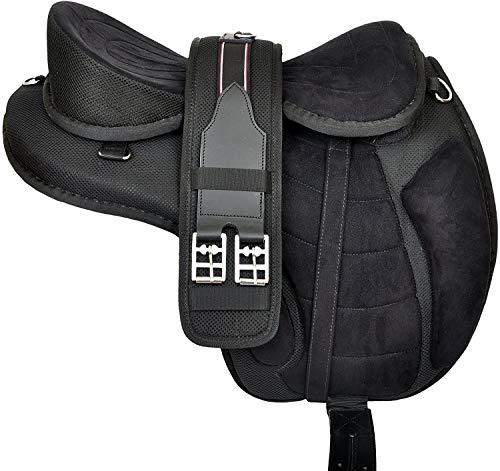 Nologo Mehrfarbige Synthetic Treeless FREEMAX Englisch Pferdesättel Tack Get Passende Girth & Lederriemen Größe 17 Zoll Seat