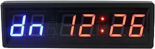 Fitness Training Timer LED Digital Countdown väggklocka Intervall Timer Fitness Timer Stoppur Väggmontering (färg: Svart, ...