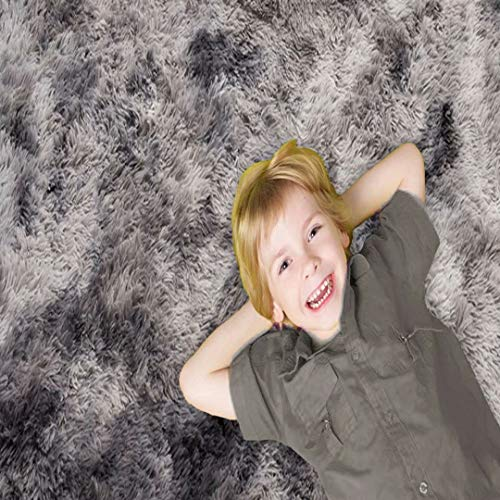 YUESUO Alfombrasde Salon 90x160cm, Suave Mullida Duradera Resistente, Alfombra Bebe Antracita, Antideslizante Tela Lavable, Estar aptas para niños Dormitorio Decoración