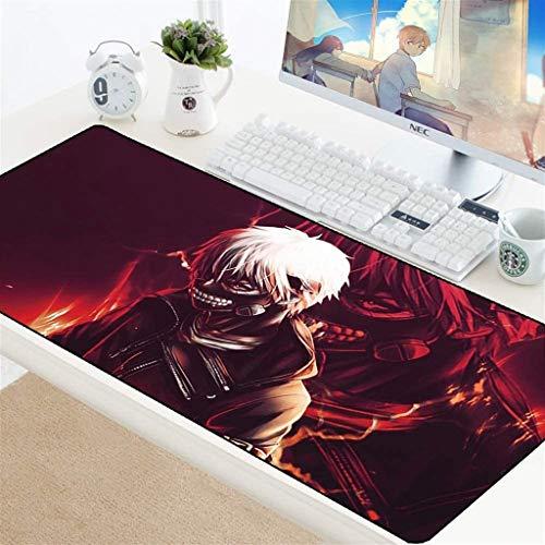 Tokyo Ghoul Kaneki Ken - Alfombrilla de ratón grande para juegos, alfombrilla de teclado para café, alfombrilla de ratón extendida para computadora PC (color: 5, tamaño: 600 x 300 x 3 mm)