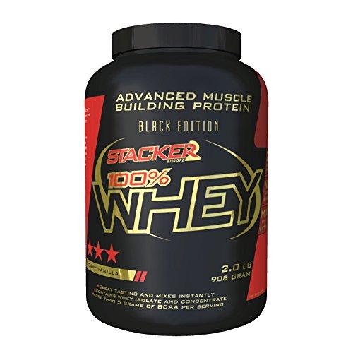 Stacker2 100% Whey Protein Proteinshake Eiweißshake Eiweiß Bodybuilding (Vanilla 908 g)