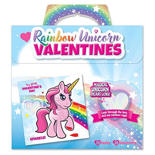 Kangaroo Rainbow Unicorn Valentine's Cards...