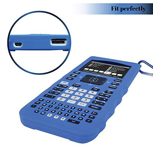 Sully Silicone Skin for Ti Nspire CX/CX CAS Handheld (Blue) w/Screen Protector - Silicon Cover Case for Ti-Nspire CX Hand held Graphing Calculator - Protective & Anti-Scretch Skins & Screen Covers Photo #9