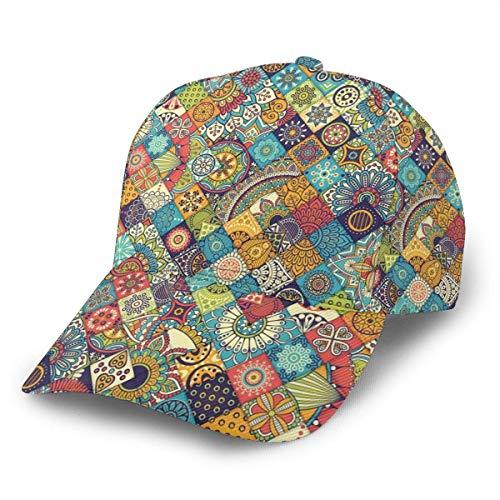 NA Unisex Baseball Cap Bohemian Geometric Floral Volkskunst Kappen Trucker Hut Summer Sun Sports Outdoor Snapback Hüte