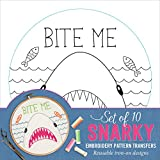 Snarky Embroidery Pattern Transfers (set of 10 hoop designs!)