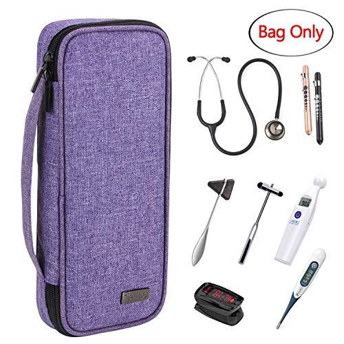 Teamoy Stethoskop Tasche, Stethoskop-Tragetasche ist vereinbar mit 3M Littmann, MDF, ADC und Omron Stethoskop, Schutzhülle für Stethoskop und Extra Zubehör, Lila