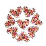 Goma de Pelo Multicolor 1000 Piezas s de Goma de Pelo Multicolor para Niñas Bebés.Especialmente para niñas pequeñas con menos volumen de cabello
