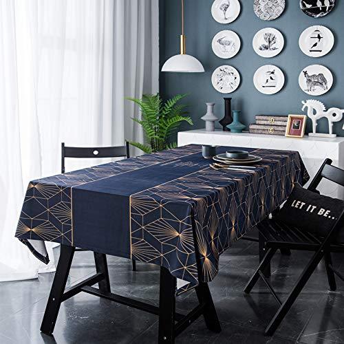 XGguo Cubierta de Mesa de Simples Adecuado para la decoración de cocinas caseras, Varios tamaños Ligeras líneas geométricas de impresión Digital de Franela de Lujo.