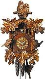 Alemán Reloj de cuco - mecanismo con cuerda para 1 día - tallado en madera - 33 cm...