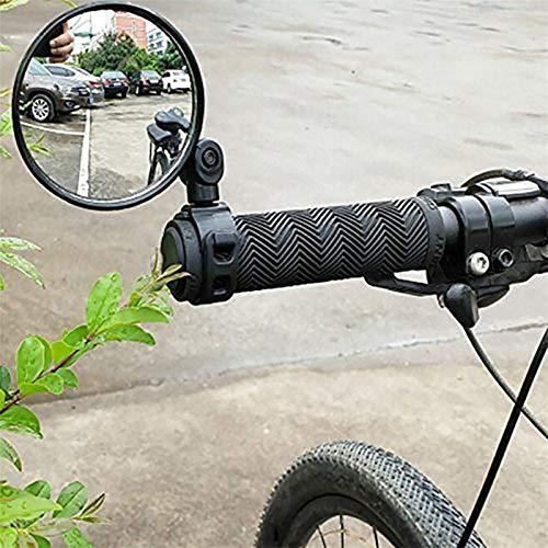 KEENON Universal 360 Girar Ajustable Bicycle Retroview Handlebar de Gran Angular Convexo Espejo Ciclismo Vista Posterior MTB Bike
