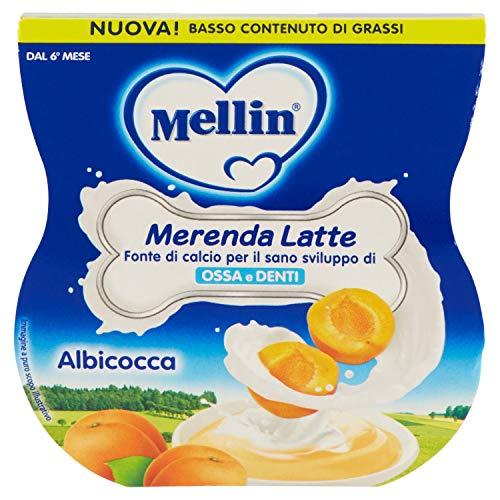 Mellin Merenda 113059 Latte e Albicocca - 12 Vasetti da 100 Gr