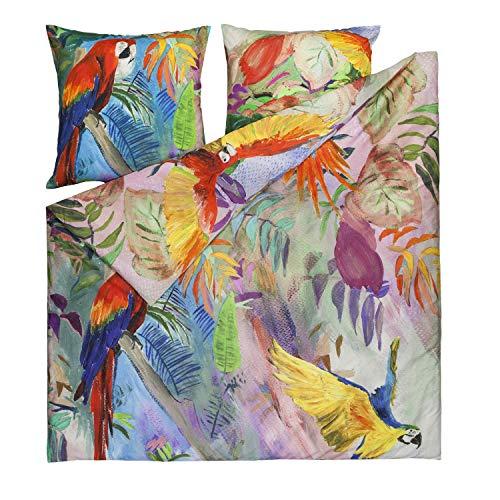 ESTELLA Mako-Satin Bettwäsche Ara Multicolor 1 Bettbezug 135x200 cm + 1 Kissenbezug 80x80 cm