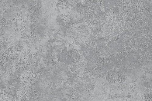 Werzalit Tischplatte, Dekor Beton 110x70 cm rechteckig wetterfest Ersatztischplatte Bistrotisch Stehtisch Tisch Gastronomie