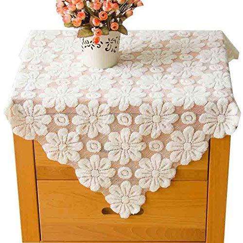 Zbm-zbm kant bed kabinet dekking polyester tafellamp meubels tuin garen afdekking handdoek stof doek afdekking prinses stijl wit vrieskast