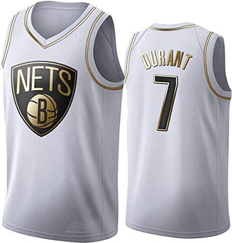 lpf Pullover di Pallacanestro NBA Kevin Durant degli Uomini di # 7 NBA Brooklyn Nets Pallacanestro Swingman Edition Mesh Jersey Sport Canotta Senza Maniche T-Shirt (Size : L)