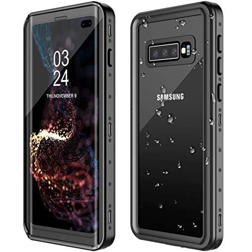 AICase Funda Impermeable Galaxy S10+ Plus [Anti-rasguños][Protección de 360 Grados],Case Protectora con Protector de Pantalla Incorporado para Samsung Galaxy S10 Plus (Galaxy S10 Plus)