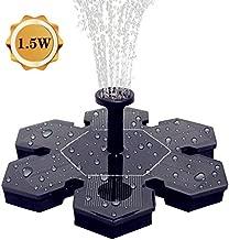 AMYER Solar Fountain, Solar Birdbath Fountain, Solar Fountain Pump, 1.5W Solar Panel Kit Submersible Water Pump, Water Fountain Pump for Pool, Pond, Garden, Fish Tank, Aquarium