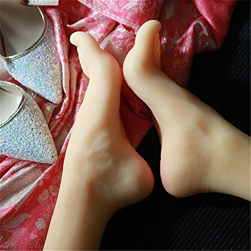 AFYH Mannequin Foot, Silicone Mannequin Foot 36 yards beautiful foot model, soft silicone TPE realistic female mould, suitable for shoes/jewellery/photoshoot,a pair of feet