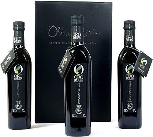 3 botellas x 500 ml - Oro Bailen Reserva Familiar Picual- Aceite de Oliva Virgen Extra por Oliva Oliva