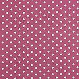babrause® Baumwollstoff Punkte Mauve Beere Webware