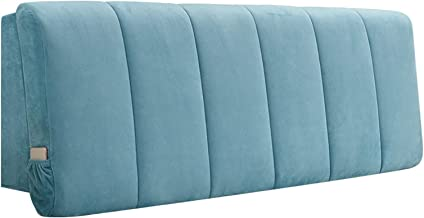 Modern Simple Headboard Cover Flannel Fabric for Bedside Back Anti-Collision Protective Dust Cover (Color : Blue, Size : 9...