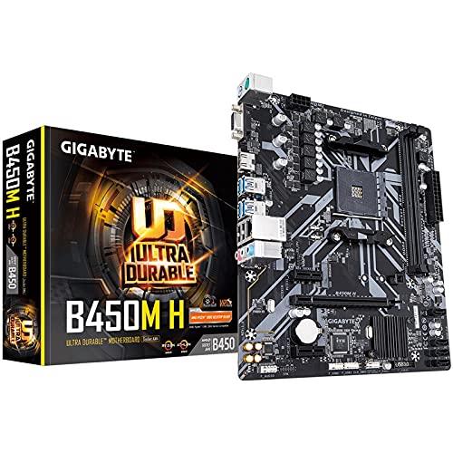 Gigabyte AMD B450 Ultra Durable Motherboard mit GIGABYTE Gaming LAN und Bandbreitenmanagement, PCIe Gen3 x4 M.2, Unterstützung für 7-Farben-RGB-LED-Streifen, Design gegen Schwefelwiderstand