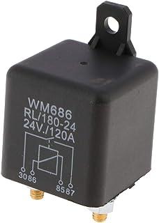 12V/24V DC 100 / 200A Relais Arbeitsstromrelais Schaltrelais 4 pin für Lkw Auto Motorrad (1 Stück)   Schwarz 24 V 100A