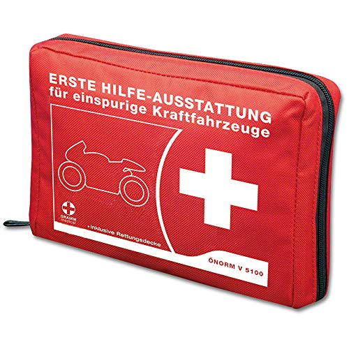 Motorrad-Verbandtasche ÖNORM V 5100 Rot inkl. Rettungsdecke