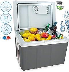 CAMRY 32 Liter 2in1 Kühlbox | EEk A++ | 12 Volt und 230 Volt | Thermobox | Kühltasche | Isoliertasche Warmhaltebox | Auto Camping Outdoor Kühlbox & Warmhaltebox | Tragegriff |