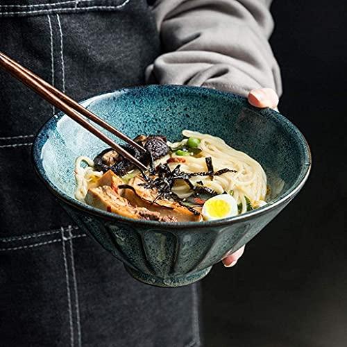ZFB8B Cuencos y tazones Ensalada, tazón de arroz Grande, Cuenco de cerámica, Cuenco de Fideos  Cuenco de Fideos instantáneos Retro de vajilla de Horno Creativo Cuencos para Mezclar (Size : 5IN)