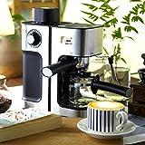 ZIXERN Maquina De Cafe Máquina De Café Automática del Fabricante De La Burbuja De La Leche del Expreso De 0.24L 800W Adecuado para Cocina Casera