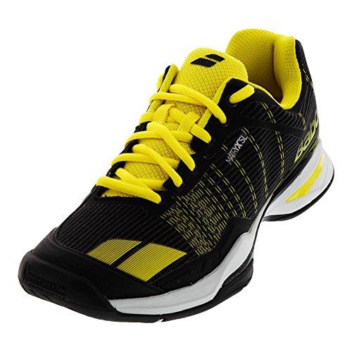 Babolat Jet Team All Court, Chaussures de Tennis Homme, Multicolore (Noir/Jaune), 42.5 EU