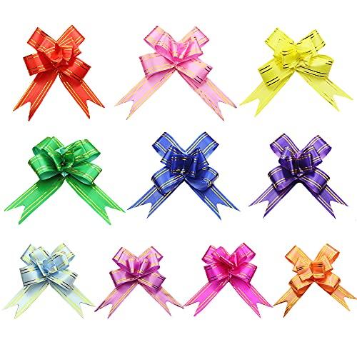 Cyleibe 100 lazos de colores para regalo, para botellas de vino y envoltorio de regalo, 10 colores