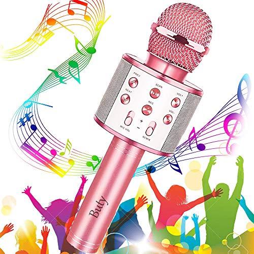 Microfono Karaoke Wireless, Buty Karaoke Portatile per Bambini con Altoparlante, Cantare Player Microfono Bluetooth per KTV Home Party Singing, Compatibile con Android iOS PC Smartphone