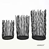 Hosley Set of 3 Candle/LED Pillar Holder- 11 Inch High. Ideal Gift for Weddings, Aromatherapy, Zen, Spa. O5
