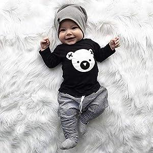 Baby Bär sweatshirt schwarz mit Hose grau für Baby ab 3 bis 6 Monat, Größe 70, Baby unisex junge kleine grau Kleid Mode…