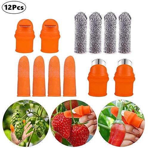 12 PCS Jardin Silicone Thumb Knife, Thumb Knife Cutter For Jardinening Plant Pickers Finger Knife For Picking Beans, Gardening Picking Tools