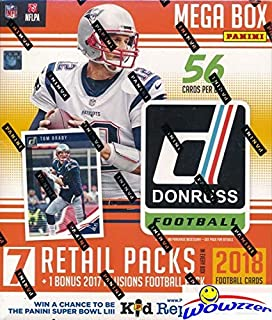 2018 Donruss Football EXCLUSIVE Factory Sealed MEGA Box with 2017 Panini ILLUSIONS HOBBY Pack! Look for RC Autos of Patrick Mahomes, Mitch Trubisky, Baker Mayfield, Saquon Barkley & Many More! WOWZZER