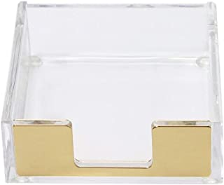 MultiBey Sticky Notes Memo Pad Holder Dispenser Rose Gold with Clear Desk Supplies Organizer Accessories for Office Home S...