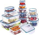 QCen Set di Contenitori per Alimenti, Impilabile 13 Pezzi, Senza BPA e con Coperchio Inclu...