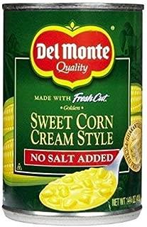 Del Monte Sweet Corn Cream Style - No Salt Added 14.75 oz. (Pack of 2)