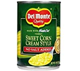 2 Cans - 1475 Ounces Each NO SALT ADDED CREAM STYLE - Made with Fresh Cut Golden Sweet Corn