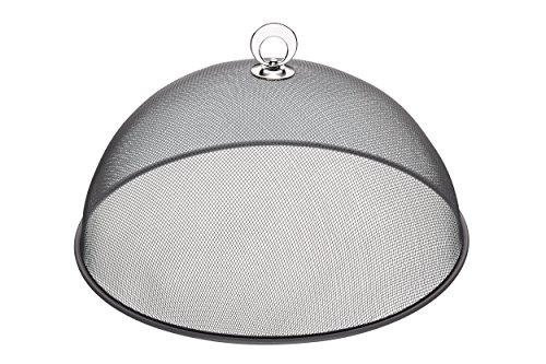 Kitchen Craft Abdeckhaube rund 35cm Metallgewebe in Silber, Metall, 25 x 25 cm