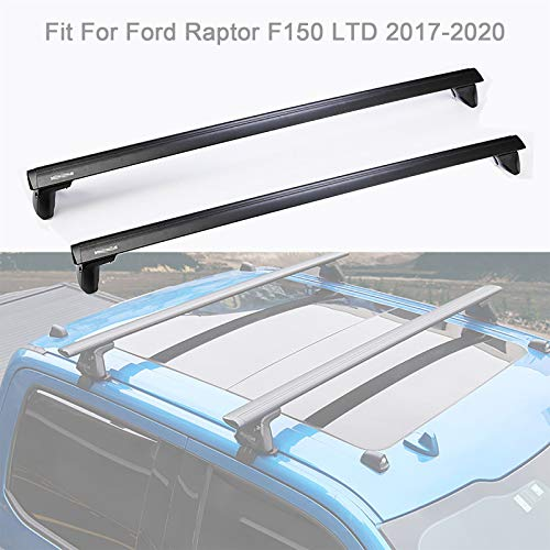 TERMALY Roof Rack Cross Bars fit for Fo-rd Ra-pt-or F1-50 L-TD 2017-2020, Luggage Crossbars Cargo Bag Carrier Aluminum Rooftop Set can Carrying Kayak Bike Canoe