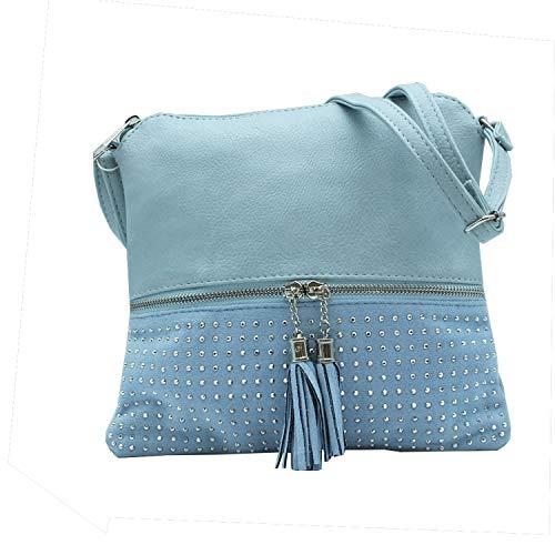 MISEMIYA - Borsa a Tracolla Borse Tracolla Donna borsa a Tracolla donna SR-J365-2 - Blu
