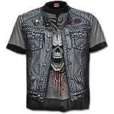 Spiral T-shirt pour homme Motif Trash Metal Noir - grand