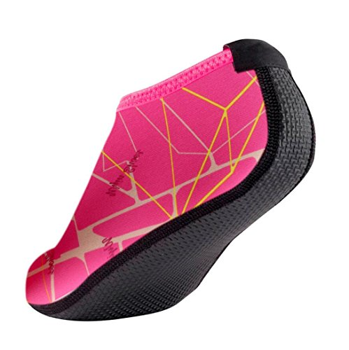 FNKDOR Unisex Fitnessschuhe Aquaschuhe Breathable Schlüpfen Schnell Trocknend Schwimmschuhe Yoga Schuhe für Damen Herren Kinder (36, Pink)