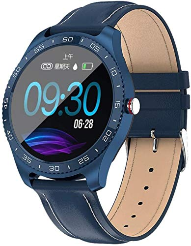 IP67 impermeable reloj inteligente hombres y mujeres deportes Tracker Bluetooth pulsera deportivo-azul