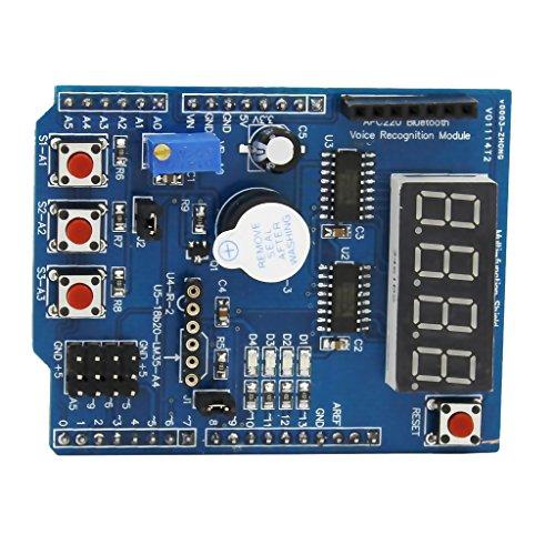 Sharplace Multifunktionale Erweiterungskarte Shield Development Board Erweiterungskarten Kit für Arduino UNO R3
