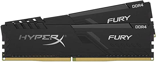 HyperX Fury 16GB 3000MHz DDR4 CL15 DIMM (Kit of 2) 1Rx8  Black XMP Desktop Memory HX430C15FB3K2/16